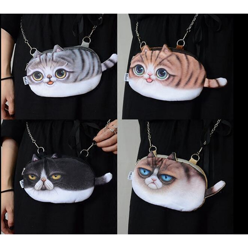 2016 NEW 3D printed puppy cat plush women backpack bag,kit pussy,party girl bag,gift cute funny cellphone cases pack bag animal