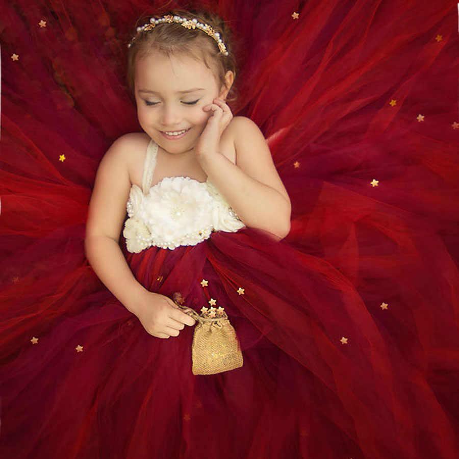 Pêssego e Marfim Vestido Da Menina Flor Crianças Rendas Tutu Vestido de Festa de Aniversário Do Casamento Do Natal Concursos Foto Roupas TS082