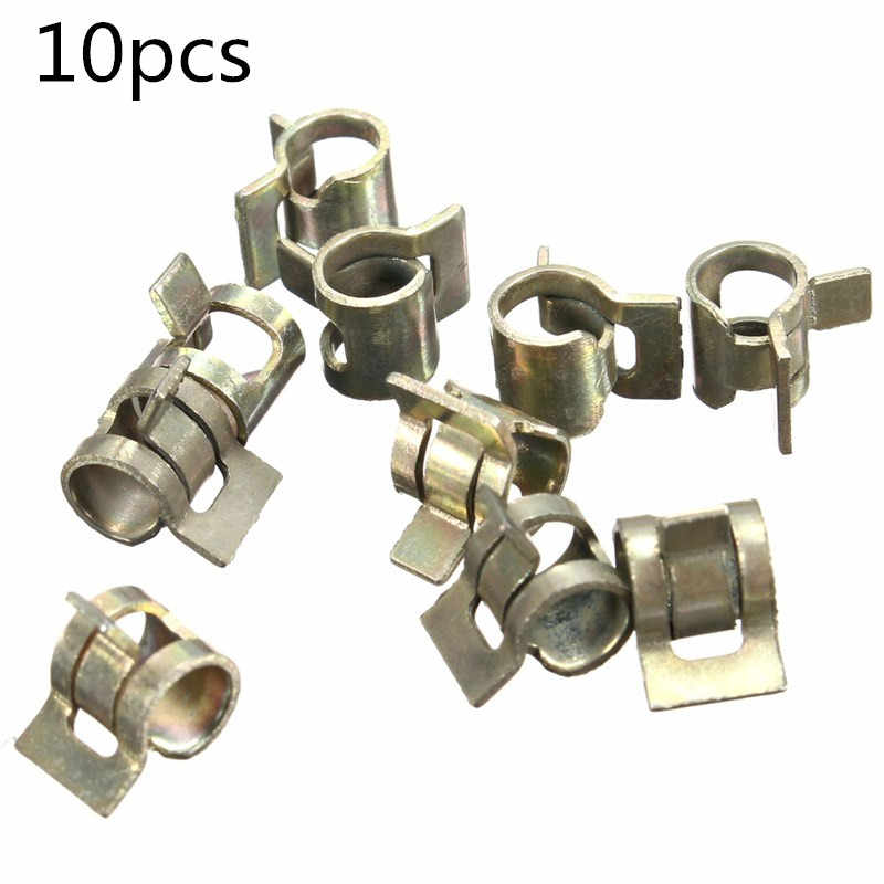 10pcs Spring Clip Vacuum Fuel Hose Line Silicone Pipe Tube Clamps Fastener Steel Zinc Plated Clamps 6/7/8/9/10/11/12/13/14/15mm