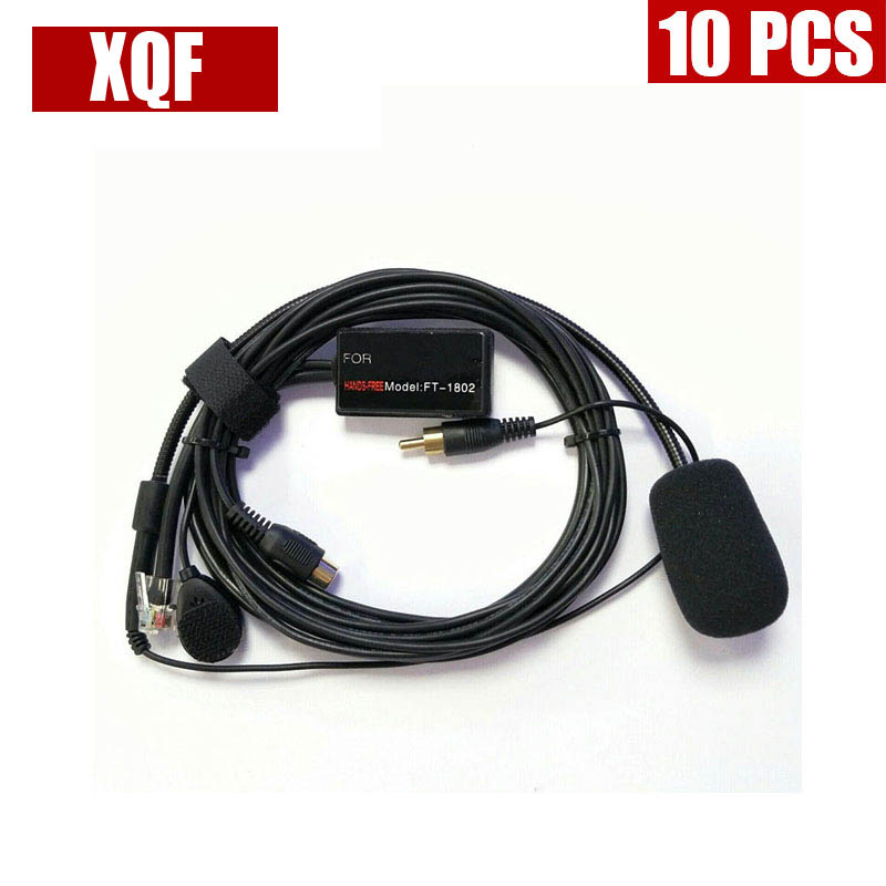 XQF 10PCS Hands Microphone Speaker 6 Pins For Yaesu FT1807 FT1900 FT7800R,FT7900R,FT8800R,FT8900R FT2800 Etc Car Vehicle Radio