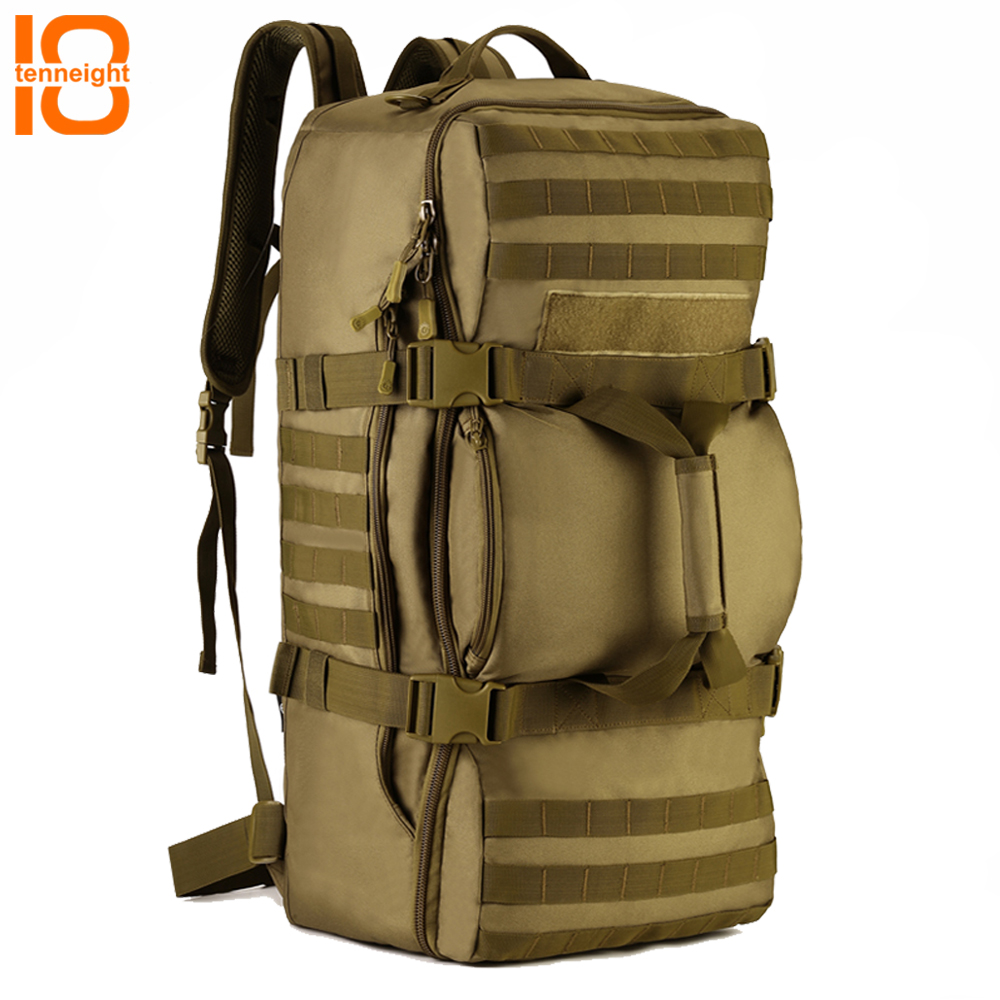 TENNEIGHT 60L Military Tactical Backpack Nylon Men Bag Waterproof Sport Camping Climbing backpack Outdoor Travel handbag large capacity 60l waterproof handbag military tactical backpack outdoor sports camping climbing camouflage molle luggage bags