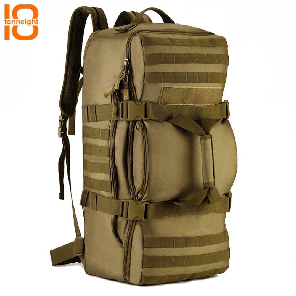 TENNEIGHT 60L militaire tactique sac à dos en Nylon hommes sac étanche Sport Camping escalade sac à dos de voyage en plein air sac à main
