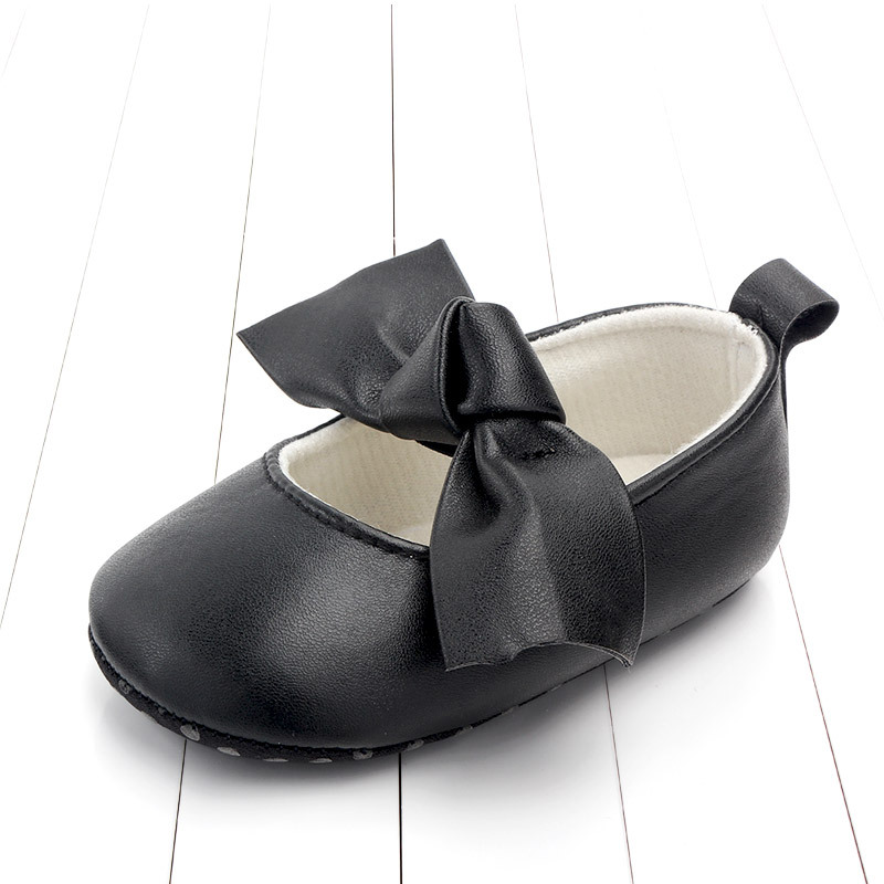 PU Leather Baby First Walkers Shoes Bow Soft Soled Anti-slip Footwear Crib Baby Girl Shoes Infant Toddler Best Gifts for Newborn (5)