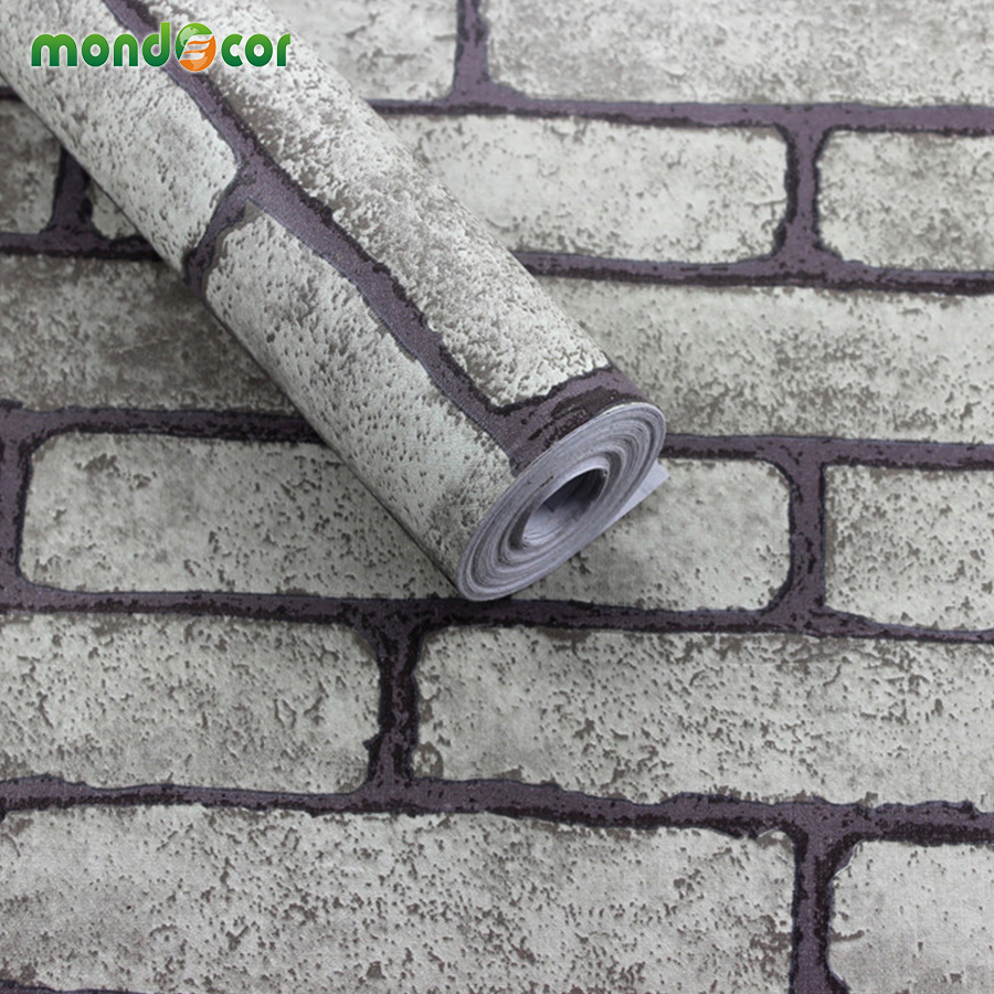 5M DIY Europe Imitation Brick Style PVC Self Adhesive Wallpaper Film Wall Decor Dining Room Background