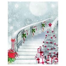 Тонкий виниловый студийный Рождественский фон для фотосъемки 5x7 футов