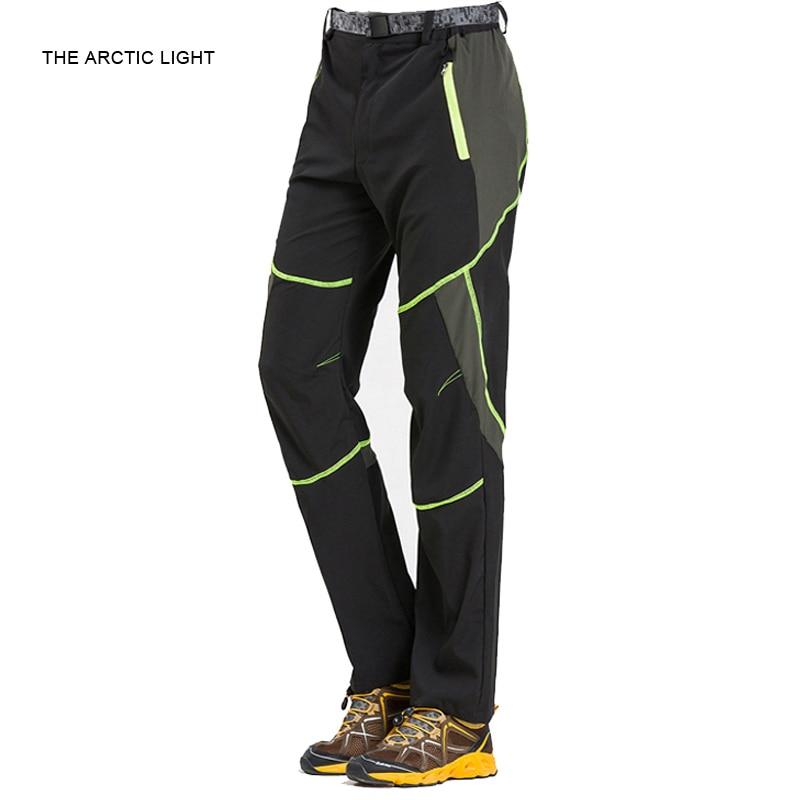 Új forró férfiak Gyors szárítású túrázó nadrágok Tavasz Nyári szabadtéri sporthorgász nadrág UV védelem Kemping kaland nadrág