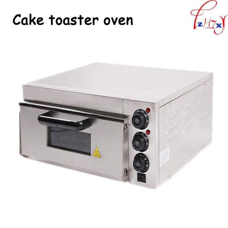 Acier inoxydable électrique maison/thermomètre commercial four à pizza unique/mini four de cuisson/pain/gâteau grille-pain four 220-240 v 1 pc