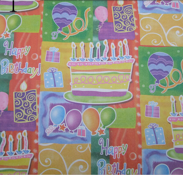 Gift Wrapping Paper Souvenir Packaging Happy Birthday Wrap Home Decoration 10 Sheet Bag 5275cm Free Shipping
