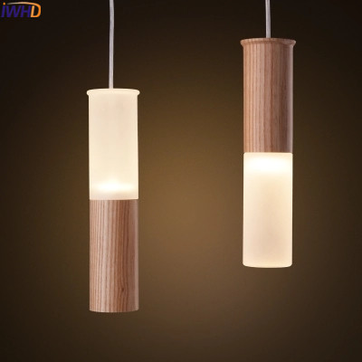 IWHD Glass Hanglamp Led Pendant Lights Modern Fashion Wood Hanging Lamp Luminaire Suependu Living Room Lamparas Home Lighting 2016 new luminaire lamparas pendant lights modern fashion crystal lamp restaurant brief decorative lighting pendant lamps 8869