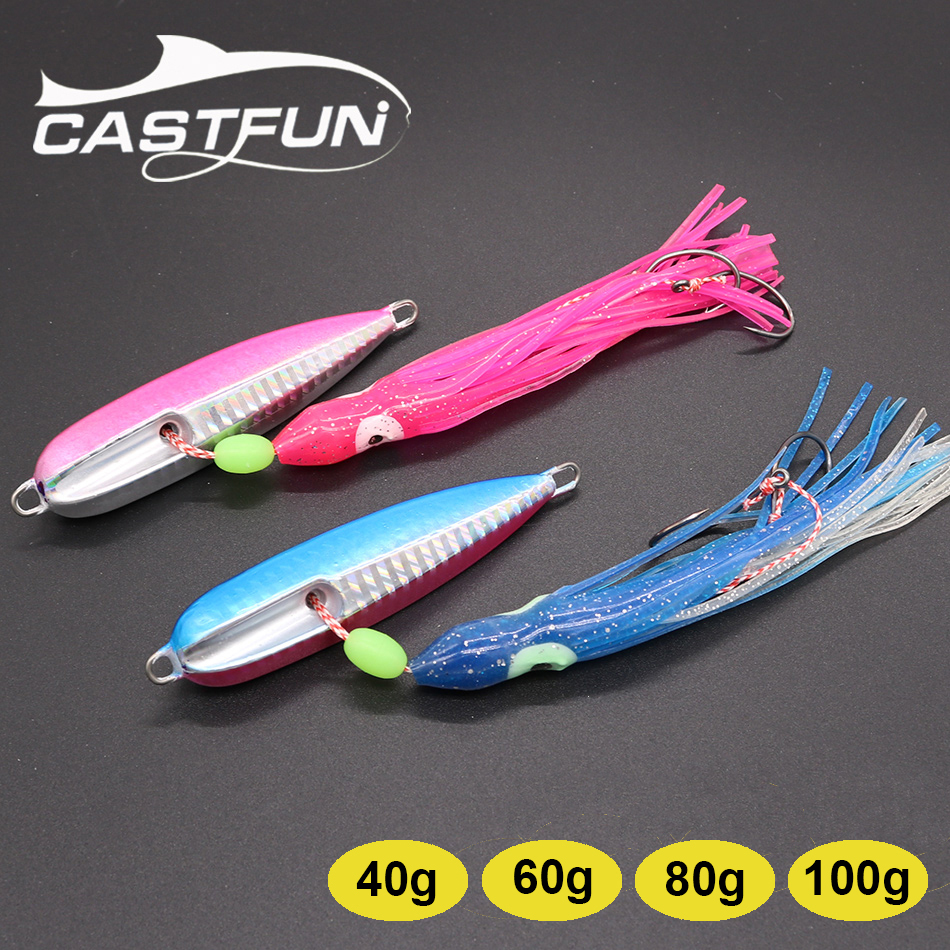 Inchiku Jig Squid Octopus Skirt Bottom Ship 40g 60g 80g 100g Fishing Lures Saltwater