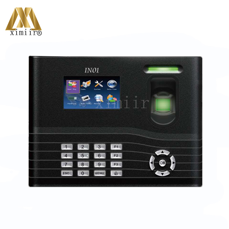 3 Inches TFT Screen Back Up Battery Fingerprint Time Attendance TCP/IP3000 User Fingerprint Attendance IN01 Optional WIFI/GPRS