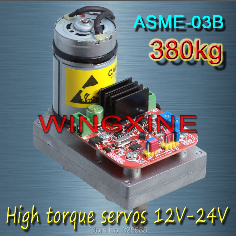 ASME-03B High-power high-torque servo the 12V~24V 380kg .cm 0.5s/60 Degree large robot amazing high torque and high end servo fast powerfull waterproof ideally designed to use in r c cars