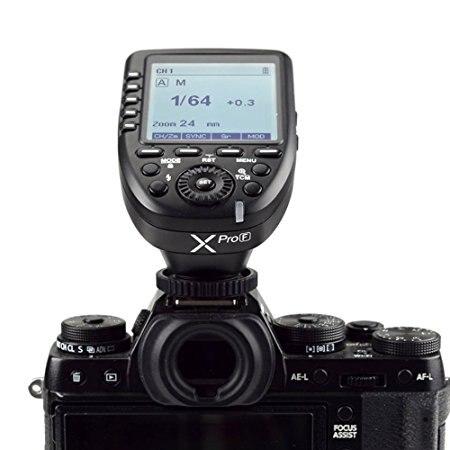 Godox Xpro-F HSS TTL Sans Fil Déclencheur Flash 1/8000 s HSS TTL-Convertir-Manuel pour Fujifilm Fuji X-Pro2/X-T20/X-T1/X-T2 X100F, X100T