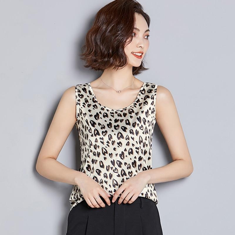 2019 Women   Tanks   Camisole Casual Shirt   Top   Silk Singlet Female Vest Plus Size S-3XL Basic   Tank     Top   Blusas Candy Colors White