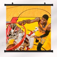 Paul George Basketball Star Fabric poster with wall scroll 22