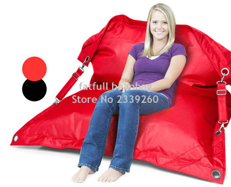 Cover Only No Filler   Outdoor Bean Bag With Belts On Both Sides,  Waterproof Beanbag Furniture Seat, Dirt Resistant Lounger