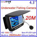"FREE Shipping 20M Underwater Fishing Camera Fish Finder Ice Fishing Camera HD 1000 TVL 4.3"" Digital Screen CR110-7HBS with Cover"