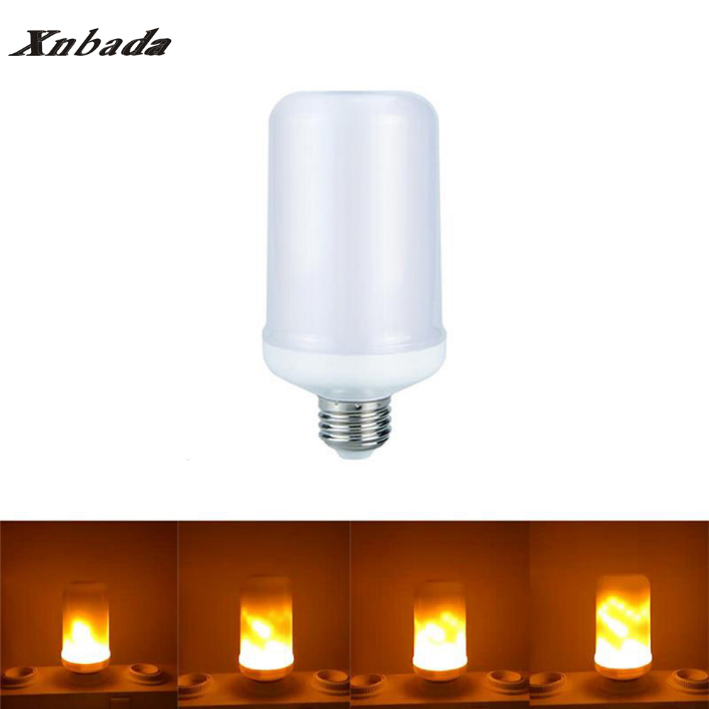E27 Led Flame Lamp LED Flame Effect Light Bulb AC85-265V Flickering Emulation Fire Lights 7W Decoration Lamp Free shipping