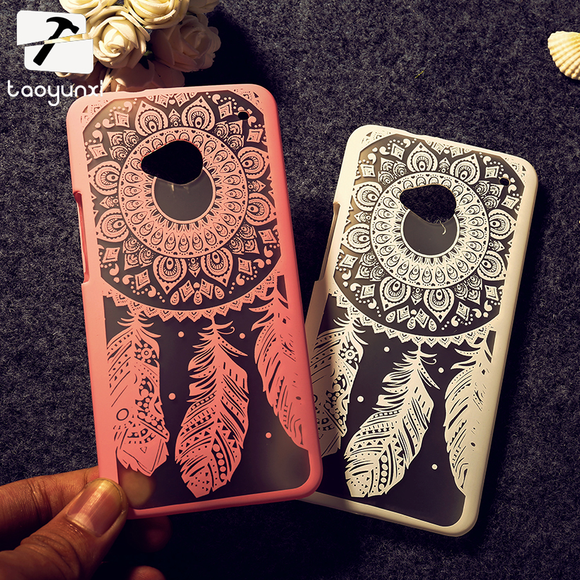 TAOYUNXI Mobile Phone Cases For HTC ONE M7 802W One 2 mini M8 mini M8s Dual Sim 802D 802T M8x Cover Skin Dreamcatcher Bag