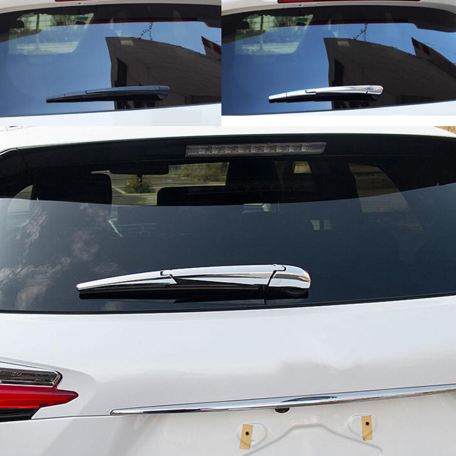 Chrome 3x Car Rear Windscreen Rain Wiper Cover Trim Styling Sticker For <font><b>Lexus</b></font> <font><b>NX200T</b></font> NX300H <font><b>2015</b></font> 2016 Auto <font><b>Accessories</b></font> image