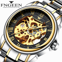 Men Watches Automatic Mechanical Watch Male Tourbillon Clock Gold Fashion Skeleton Watch Top Brand Wristwatch Relogio
