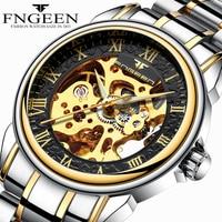 Men Watches Automatic Mechanical Watch Male Tourbillon Clock Gold Fashion Skeleton Watch Top Brand Wristwatch Relogio