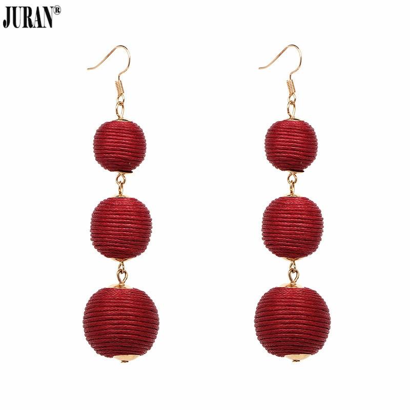 JURAN 14 kleuren elegante bal oorbellen mode-sieraden Unieke rode - Mode-sieraden - Foto 3