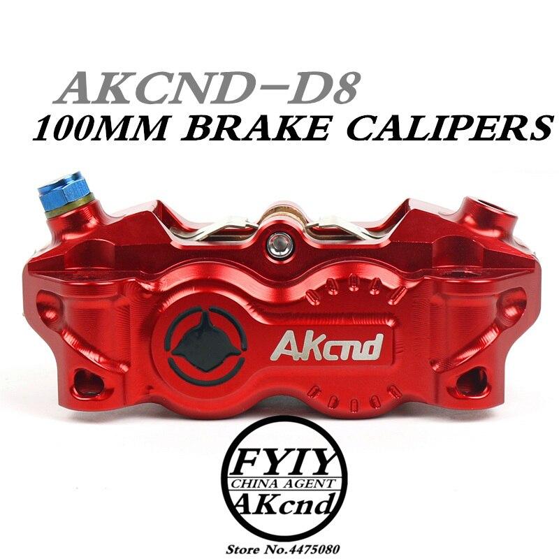 AKCND30mm * 4 pistons Étrier De Frein de Moto 100mm Universal Moto Mocified pompe Hydraulique pour YAMAHA avant/arrière de frein syste