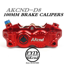 цена на AKCND30mm*4 pistons Motorcycle Brake Caliper 100mm Universal Motorbike Mocified Hydraulic pump for YAMAHA front/rear brake syste