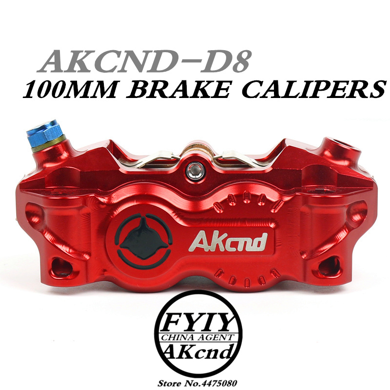 AKCND30mm*4 pistons Motorcycle Brake Caliper 100mm Universal Motorbike Mocified Hydraulic pump for YAMAHA front/rear brake syste