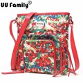 UU Family 2016 Foldable Floral Bag Flower Printing Ladies Handbags Small Crossbody Bag with Printing Shoulder Bags Handbag Sacs