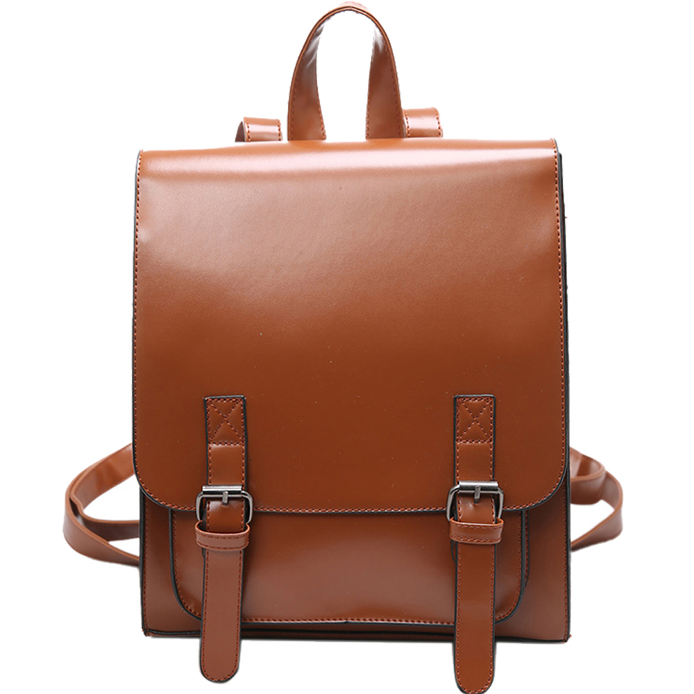 New Women Backpacks Vintage Leather Backpack Travel Bag Student Casual Laptop Backpack College School Bags for Teenagers Girls tcttt new 2016 travel bag women laptop backpacks girl brand rivet backpack fashion chains knapsack school bags for teenagers