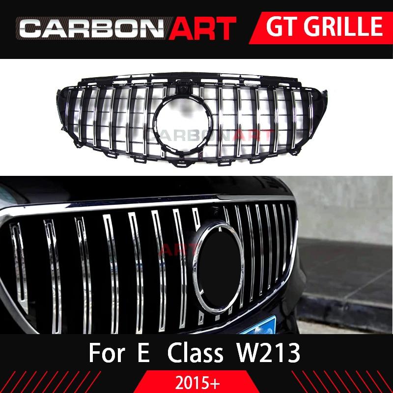 W213 GT grille For Mercedes W213 front bumper GT Grill Fit E CLASS W213 C238 E200