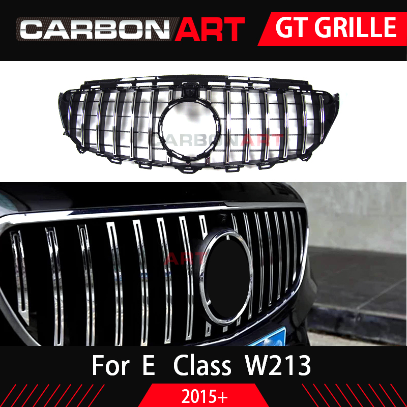 W213 GT grille For Mercedes W213 front bumper GT Grill Fit E CLASS W213 C238 E200 E250 E300 E320 E350 2016 2018-in Racing Grills from Automobiles & Motorcycles    1