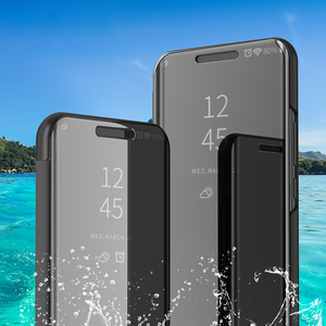 Image 5 - Spiegel Flip Fall Für Samsung Galaxy A30 A70 A40 Smart Buch Abdeckung für Samsung A50 a20e EINE 30 40 50 70 50a 30a 70a 2019 stehen Funda