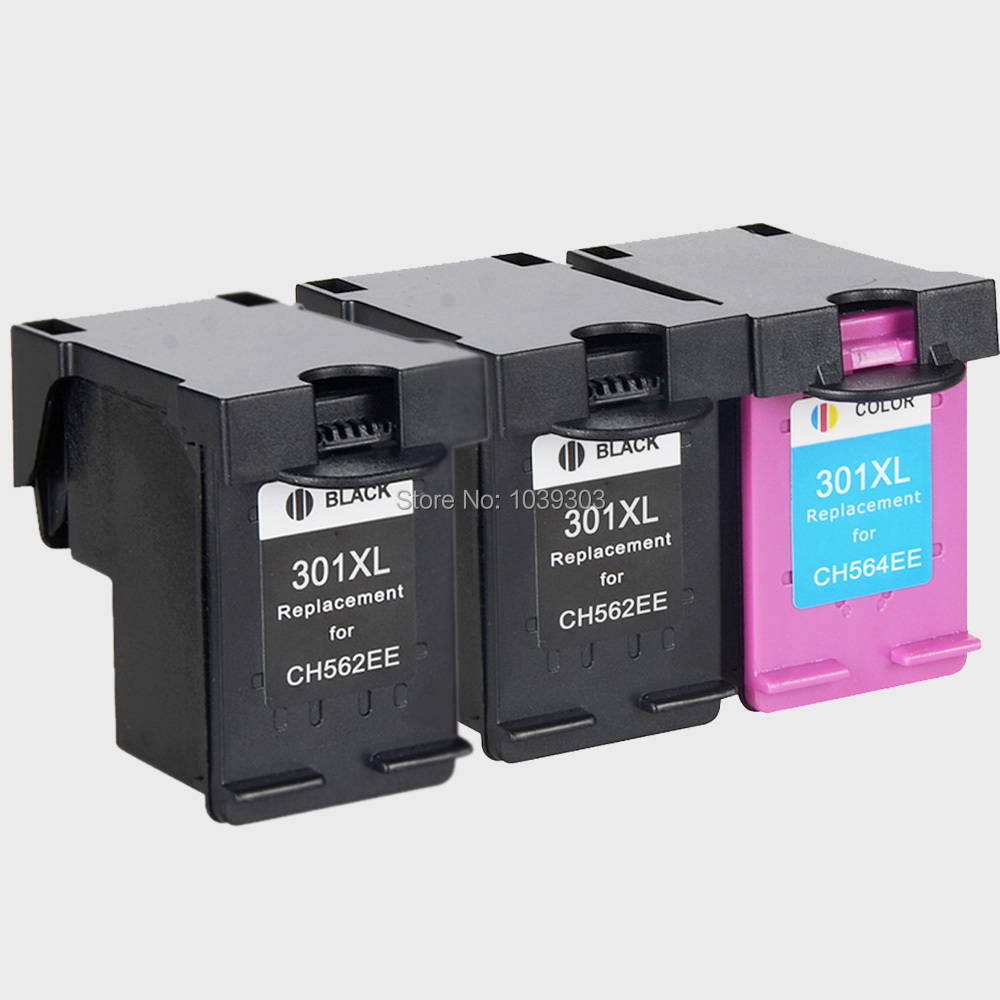 3pack hp 301 xl hp301 ink cartridges compatible for hp 2510 3510 d1010 1510 2540 4500 1050 2050. Black Bedroom Furniture Sets. Home Design Ideas