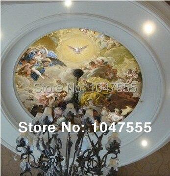 3d Murals European Wallpaper Painting Mural For Living Room Ceiling Murals Wall Paper Lamp Pool