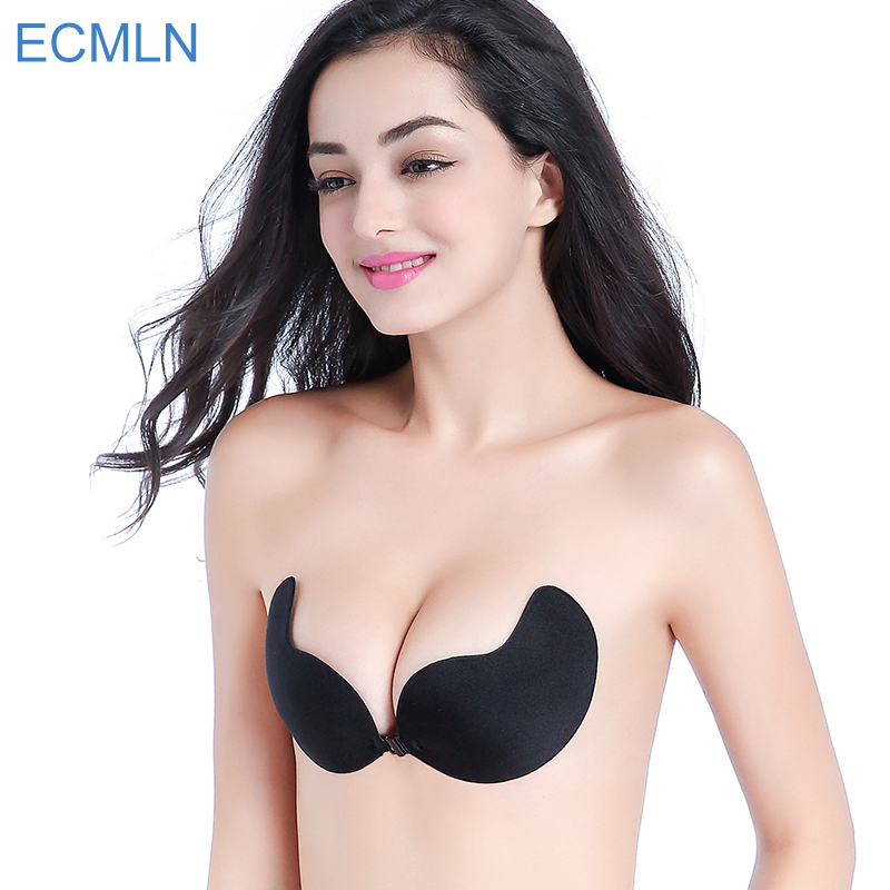 3cd49ef12 Mozhini Fly Invisible Bra Self Adhesive Backless bra Strapless super Push  Up Bra Breast Lift Top ...
