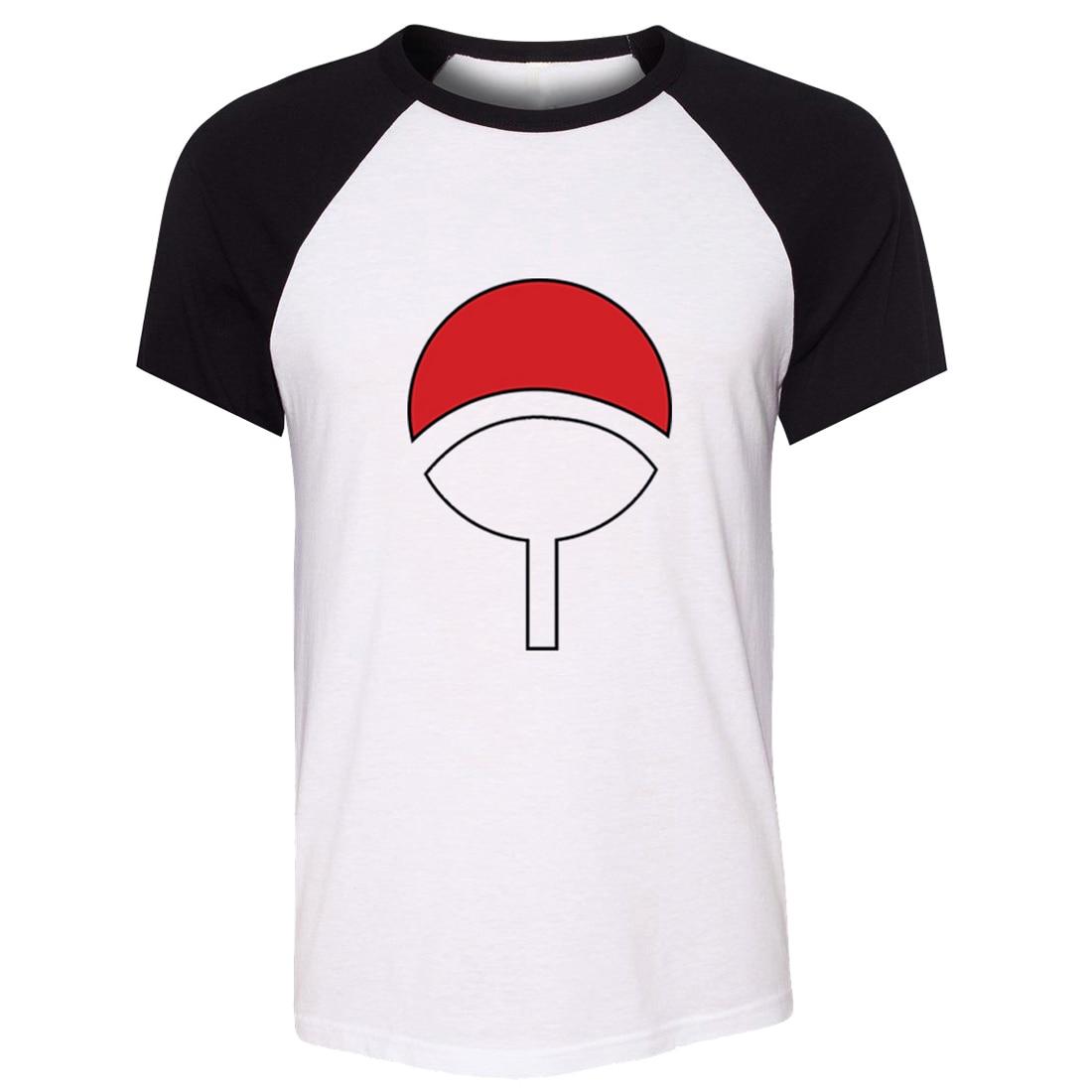b5b1f3f004698 iDzn Unisex Summer T-shirt NARUTO SHIPPUDEN Village uchiha Symbols Art  Pattern Raglan Short Sleeve