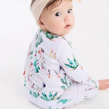 Newborn Clothing 2019 New Baby Boy Girl Rompers Animal Print Long 100% Cotton Long Sleeve Infant pajamas 2018 New Arrival(China)