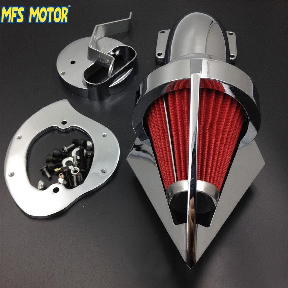 MFS MOTOR Nové díly pro motocykly Kuželové Spike čistič vzduchu pro Yamaha V-Star 1100 Dragstar XVS1100 1999-2012 CHROME