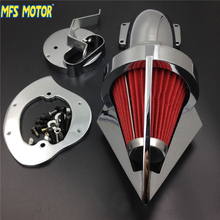 цена на New Motorcycle parts Cone Spike Air Cleaner for Yamaha V-Star 1100 Dragstar XVS1100 1999-2012 CHROME