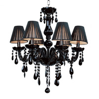 Quality Nordic Style Luxury Crystal Chandelier Led E14 Indoor Lighting Fashion Black Crystal Chandelier 3 Lights