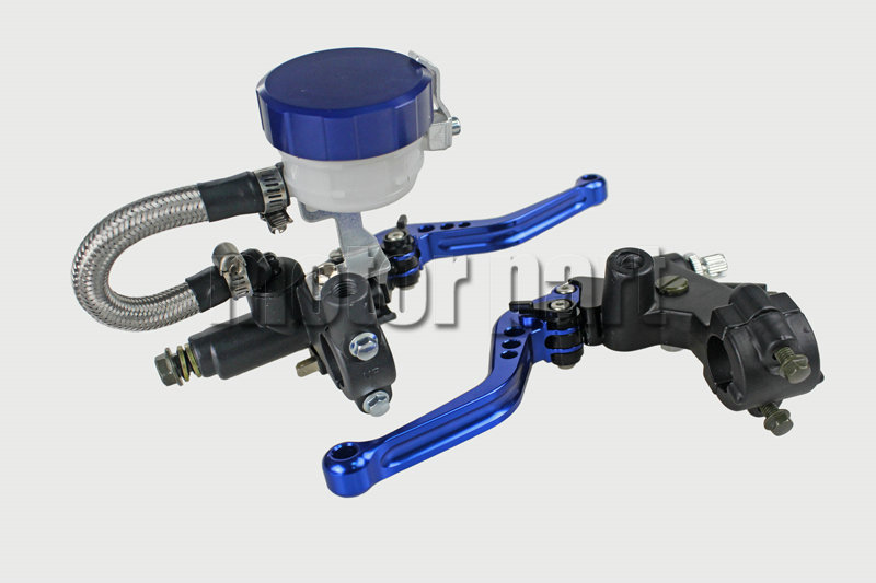 Blue Color 22mm 7/8 Universal Handlebar Adjustable CNC Brake Clutch Levers Master Cylinder Fluid Oil Reservoir Set For Aprilia universal motorcycle brake fluid reservoir clutch tank oil fluid cup for mt 09 grips yamaha fz1 kawasaki z1000 honda steed bone