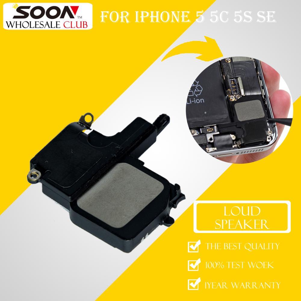 10Pcs Wholesale SOON Inner Loud Speaker Replacement Repair Parts Buzzer Ringer Module Sound Flex Cable For iPhone 5 5C 5S SE