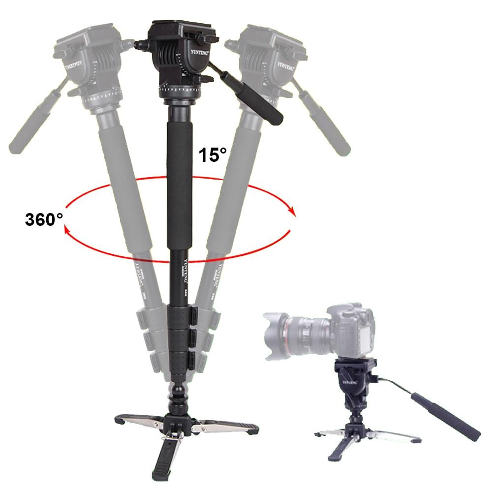 Yunteng 588 For Canon Nikon Sony Phones DSLR Camera DV Camcorder Photography Tripod Monopod Fluid Drag Head Update Of VCT-288 yunteng vct 588 monopod