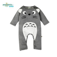 Brand Baby Clothes Newborn Baby Rompers Totoro Infant Fleece Long Sleeve Jumpsuits Boys Girl Autumn Winter