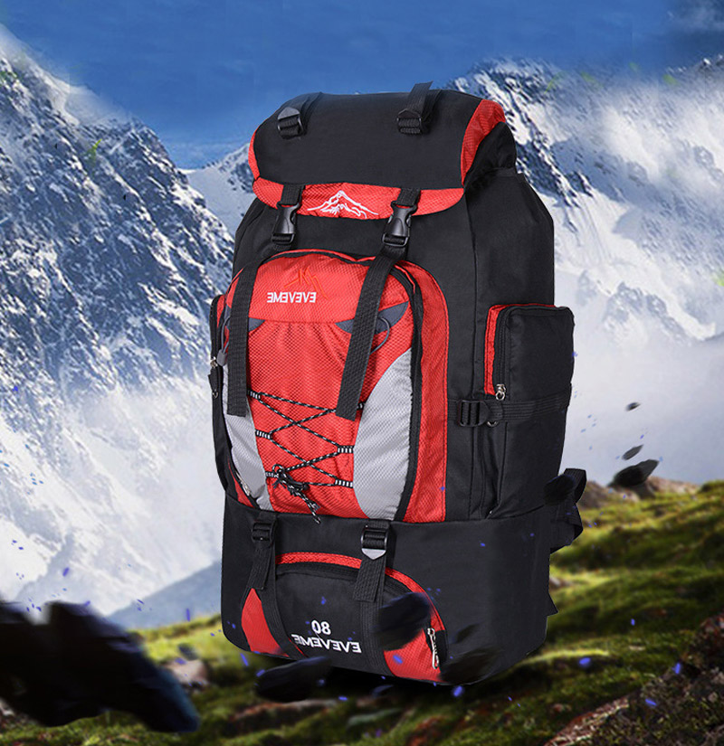 96590db386fd 80L Outdoor Large Capacity Mountaineering Bag Nylon Men's Package ...
