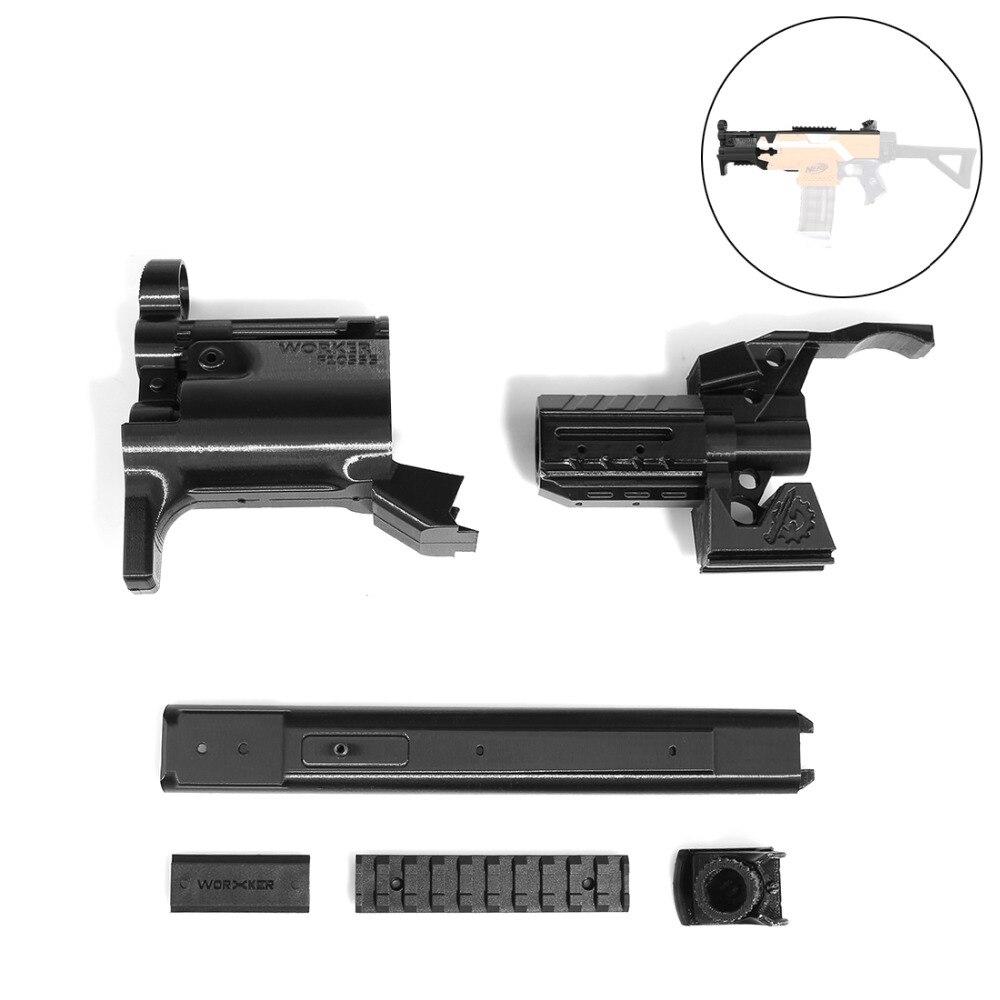 TRAVAILLEUR f10555 3D Impression Modulaire MP5-K Avant Tube Kit pour Nerf Stryfe-Noir