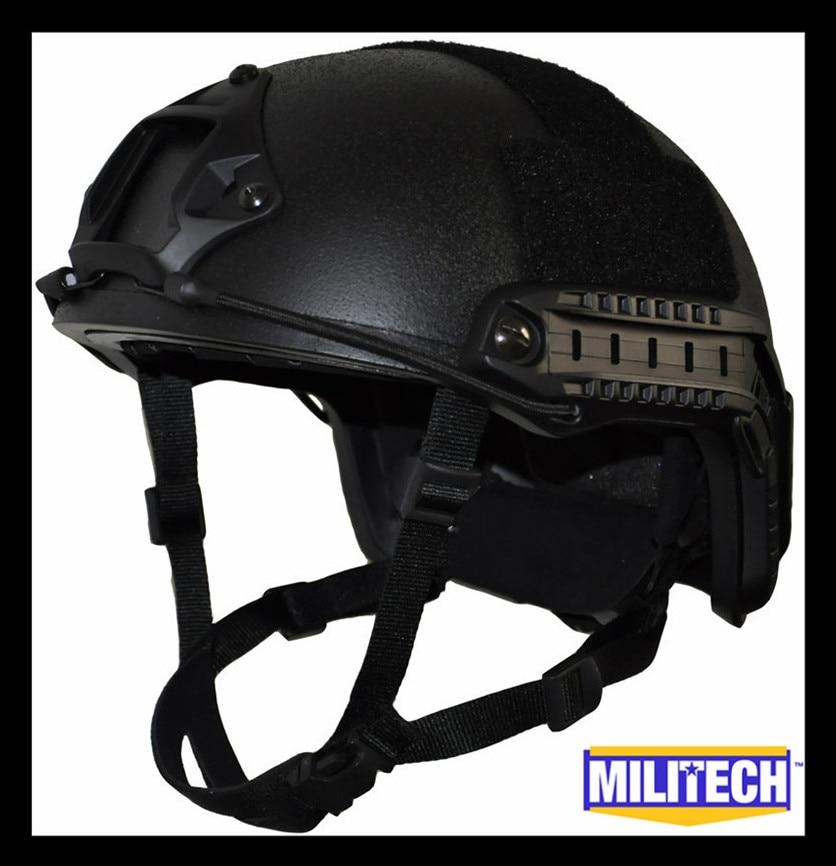 ISO Certified MILITECH Black OCC Dial NIJ Level IIIA 3A FAST High Cut Bulletproof Kevlar Ballistic Helmet With 5 Years Warranty поднос zeller 35 х 26 см